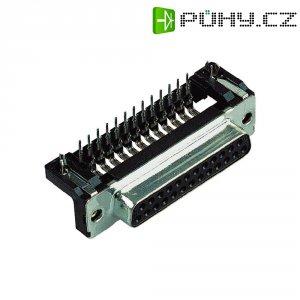 D-SUB zdířková lišta Harting 09 66 152 6611, 9 pin, úhlová