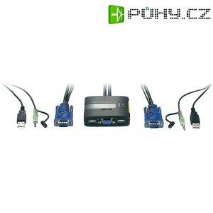 Přepínač KVM LevelOne, 2 porty, USB, VGA