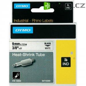 Páska do štítkovače DYMO 18053 (S0718280), 9 mm, IND RHINO, 1,5 m, černá/bílá