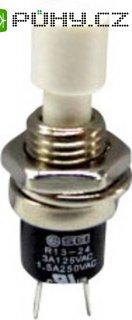 Miniaturní tlačítko R13, 250 V/AC, 1,5 A, bílá