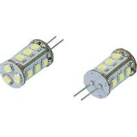 LED žárovka Renkforce, G4, 0,8 W, 30 V, 30 mm, studená bílá