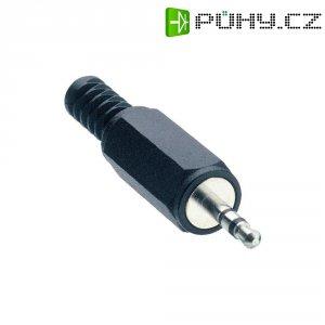Konektor jack 2,5 mm Lumberg KLS 13, zástrčka rovná, 3pól./stereo, černá