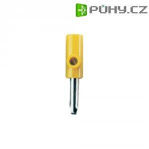 Banánkový konektor 4 mm, 60 V, 16 A, žlutá
