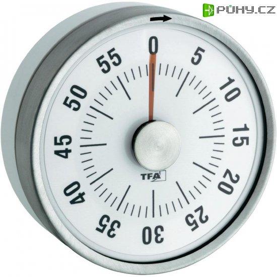 Kuchyňská minutka Puck TFA, 38-1028-02, 79 x 33 mm, bílá - Kliknutím na obrázek zavřete