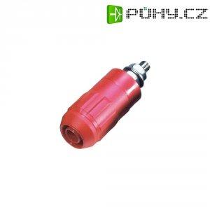 Laboratorní konektor Ø 4 mm MultiContact XUB-G (66.9684-000-22), zás. vest. vert., červená