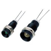 Černě eloxovaná objímka pro LED 3 mm