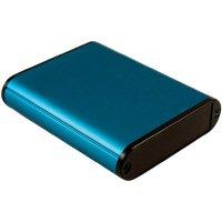 Univerzální pouzdro hliníkové Hammond Electronics, (d x š x v) 80 x 71,7 x 19 mm, modrá