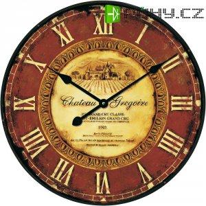 Analogové nástěnné hodiny Techno Line Retro WT 1511, Ø 50 x 5 cm, hnědá