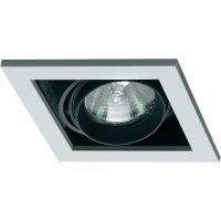 Halogenové vestavné světlo Sygonix Launet, 1x 50 W, GU5.3, černá/bílá