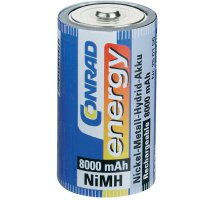 Akumulátor Conrad energy, NiMH , D, 8000 mAh