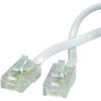 ISDN kabelová přípojka Wentronic, RJ45, 4žilová, 15 m, bílá
