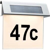 Domovní číslo se solárním LED osvětlením Paulmann, 93765, nerez/bílá