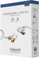 Anténni kabel Inakustik 00426305, 100 dB, pozlacené kontakty, 5 m, bílá