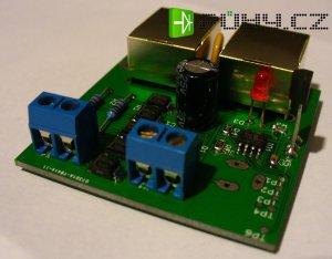 Regulátor otáček ventilátoru (Napájení POE | svorkovnice | jack) osazený modul