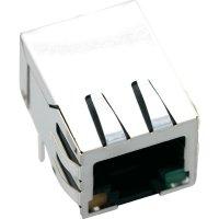Konektor do DPS BEL Stewart Conn. SS74800-033F (1421-2000-02), zásuvka zahnutá, Snap-In