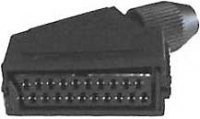 SCART zdířka 21pin na kabel
