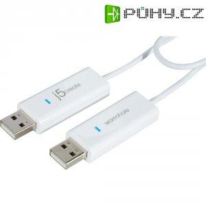 Přepínač KVM a datový kabel j5create, bílý, 1,8 m