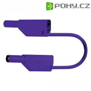 Měřicí kabel banánek 4 mm ⇔ banánek 4 mm MultiContact SLK425-E, 0,25 m, fialová