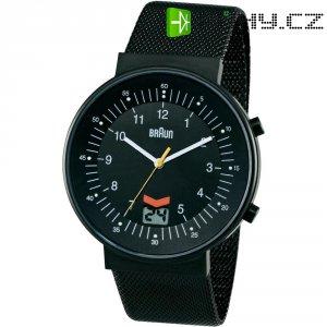Ručičkové náramkové DCF hodinky Braun, černá/stříbrná