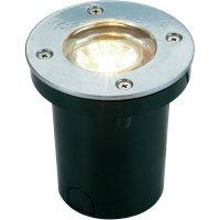 Vestavné halogenové svítidlo SLV Nautic Round 227450, 35 W, stříbrná