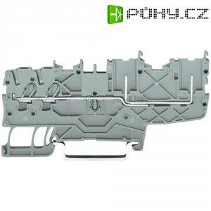 Řadová svorka 2vodičová Wago 2020-1401, pružinová, 3,5 mm, šedá