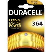 Knoflíková baterie 364, na bázi oxidu stříbra, Duracell 364, DUR067790