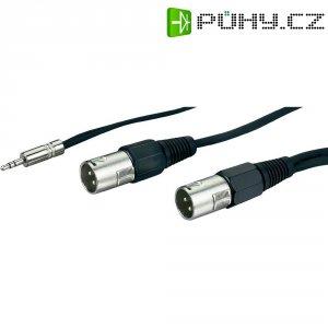 Dvojitý kabel 1x jack (M) 3,5 mm / 2x XLR (M), 3 m