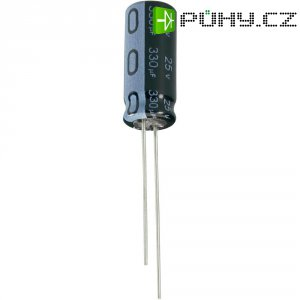 Kondenzátor elektrolytický Jianghai ECR1JQG3R3MFF150407, 3,3 µF, 63 V, 20 %, Ø 4 mm, výška 7 mm