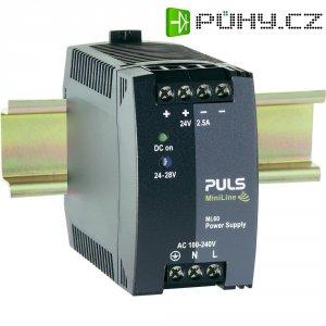 Zdroj na DIN lištu PULS MiniLine ML60.242, 2,5 A, 24 V/DC