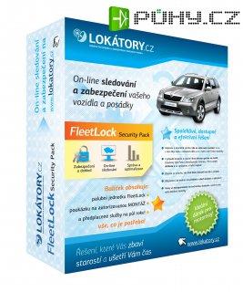 GPS lokátor - FleetLock Security Pack - sledování a zabezpečení vozidel, elektronická kniha jízd