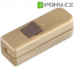 Šňůrový vypínač interBär , 1pólový, 250 V/AC, 6 A, zlatá