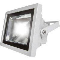 Venkovní LED reflektor s PIR AS Schwabe 46925, 20 W, šedá