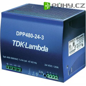 Zdroj na DIN lištu TDK-Lambda DPP480-24-3, 24 V/DC, 20 A