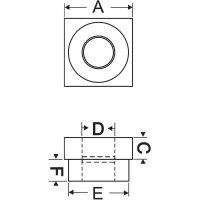 Příruba ložiska Modelcraft, 13 mm