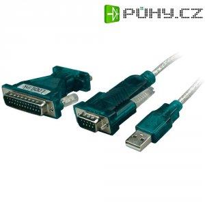 Adaptér LogiLink USB 2.0/sériový, 9-pinový, černý, 1,2 m