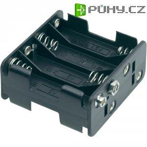 Držák na baterie 8x AA s klip konektorem Goobay, černá