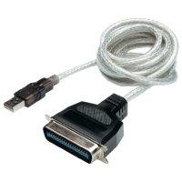 Kabel USB 2.0 vidlice ⇔ vidlice Centronics, 1,8 m, Digitus