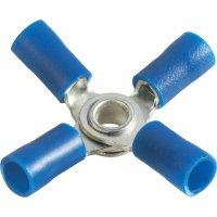 Křížové oko Průměr otvoru 4 mm částečná izolace modrá Vogt Verbindungstechnik 3631a4 1 ks