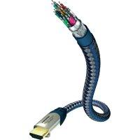 HDMI kabel s ethernetem, vidlice ⇒ vidlice, 0,75 m, černý, Inakustik