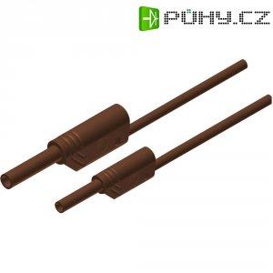 Měřicí kabel banánek 4 mm ⇔ banánek 2 mm SKS Hirschmann MAL S WS 2-4 100/1, 1 m, hnědá