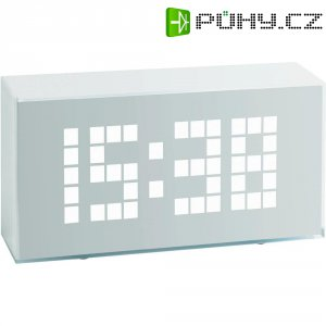Digitální budík s LED číslicemi Time Block, 60-2012, 175 x 90 x 50 mm, bílá