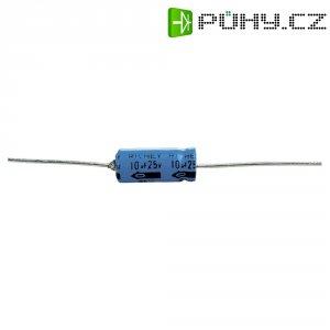 Kondenzátor elektrolytický, 10 µF, 63 V, 20 %, 6 x 13 mm
