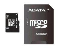 Karta paměťová ADATA Micro SDHC 8GB Class 4 + adaptér