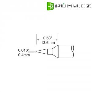 Pájecí hrot OKI by Metcal SFV-CNL04, úzký, kónický, 0,4 mm