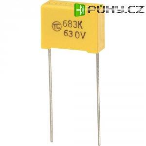 Foliový kondenzátor MKS, 0,068 µF, 630 V, 5 %, 18 x 7,5 x 13,5 mm