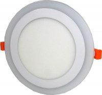 Nouzové a podhledové světlo LED 230V/3+12W, modré/teple bílé, kruhové