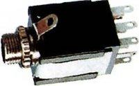 JACK zdířka 6,3 stereo+2x vyp.kontakt,panelová