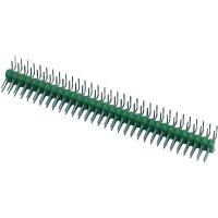 Kolíková lišta MOD II TE Connectivity 826634-5, úhlová, 2,54 mm, zelená