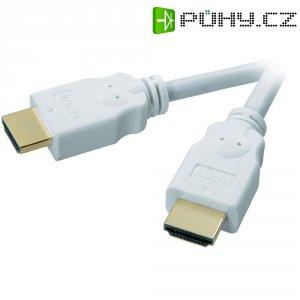 SpeaKa Professional HDMI kabel, zástrčka/zástrčka, bílý, 1,5 m