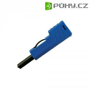 Laboratorní konektor Ø 4 mm SKS Hirschmann SLS 200 (932153102), zástrčka rovná, modrá